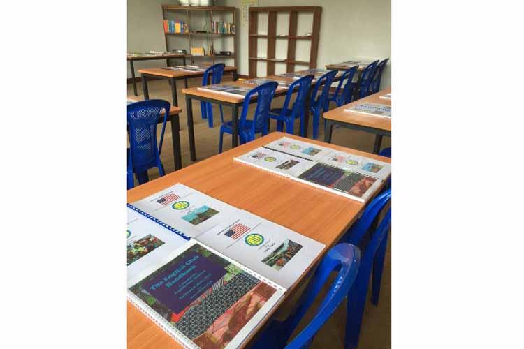 Le centre de formation pour enseignants à Mbandaka (Images du Dépt. d'Etat)