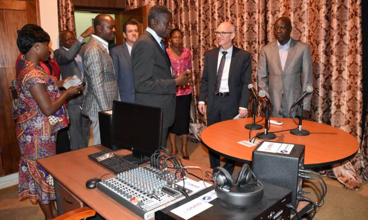 A New USAID-funded Media Resources Center (MRC) Available for Journalists in Kinshasa.