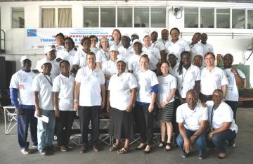 journée mondiale de lutte contre le paludisme 2018 à l'ambassade américaine de Kinshasa.